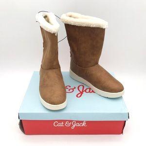 """Cat & Jack """"Aleka"""" Faux Leather Fur Boots 5"""